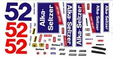 #52 Jimmy Means Alka Seltzer 1/64th - HO Scale Scale Slot Car Decals