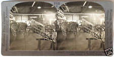 Keystone Stereoview of an AIRPLANE FACTORY in Wichita, KS from 1930's T600 Set