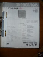 Service Manual for Sony XO-D20CD Hi-fi system, ORIGINAL