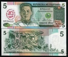 PHILIPPINES 5 PESOS P177 1989 40th Any UNC CENTRAL BANK COMMEMORATIVE MONEY NOTE