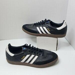 Adidas Samba G17100 Black Leather Suede Toe Gum Sole Shoes Men's Sz 13