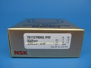 NSK 7011CTRDULP4Y Abec-7 Super Precision Spindle Bearings. ( Set of Two)