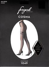 Fogal Cosma Strumpfhose, 20 DEN, Stay Up Optik, Rosenmotiv, Rautenmuster, 44-46