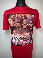 Essence Music Festival July 2015 Gig Tour Concert New Orleans Red T Shirt Tee XL