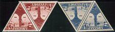 Somali Coast AirMail 1943 Sc#C7A-C7B pairs, Obock and Djibouti, Vichy, MNH** cp4