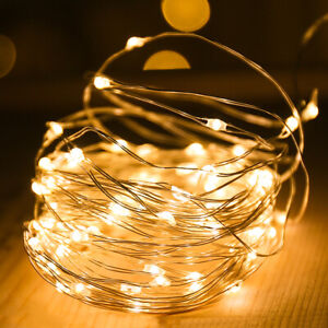 20-100 LED String Fairy Lights Copper Wire Battery Powered Waterproof Xmas Decor
