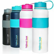 Thermo Tank Insulated Stainless Steel Water Bottle - Ice Cold 36 Hours! 40 Ounce