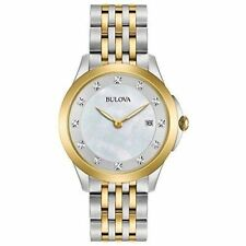 Bulova 98P161 Diamond Accent Mother of Pearl Dial Two Tone Women's Watch