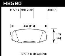 Disc Brake Pad Set-LTS Disc Brake Pad Rear Hawk Perf HB590Y.682