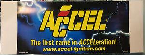 Accel Sign Garage Mancave Banner Drag Drift Shed Racing Ski MSD Holley Edelbrock