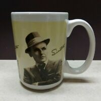 Frank Sinatra Coffee Mug Game IGT Sheffield Bristol 14 OZ Vintage White Yellow