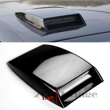 "10"" x7.25"" Front Air Intake ABS Unpainted Black Hood Scoop Vent For Subaru Mazda"