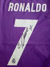 RONALDO Real  MADRID finale Ch. signed shirt camiseta trikot autograph maglia
