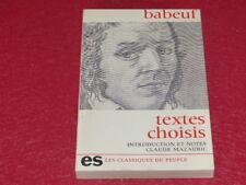 [REVOLUTION FRANCAISE] GRACCHUS BABEUF / TEXTES CHOISIS 1976 C. Mazauric