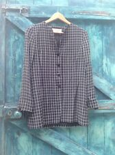 womens jacket 10/12 black check tailored Jaeger Designer classic vintage 80s