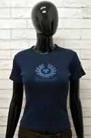 BELSTAFF Maglietta Maglia Donna Manica Corta Slim Fit Shirt Woman Blu Taglia XS