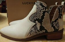 Lucky Brand Leymon Leather Weathered Milk Ankle Boot NIB Size 5