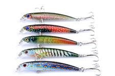 5pcs/Lot Float Paint Minnow Fishing Lures Bass Minnows Bait CrankBait 7.5cm/4.7g