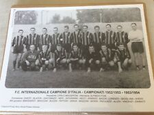 CARTOLINA MANIFESTO SQUADRA INTERNAZIONALE INTER CAMPIONE ITALIA 1952/53 1953/54