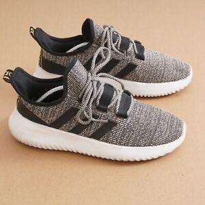 Adidas Boys Cloudfoam Kaptir Running Sneaker Size 6 Grey Knit Lace Up EF7242