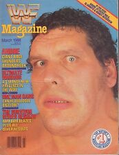 WWF Magazine March 1988 Andre The Giant VG 050616DBE