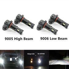 4x 9005 & 9006 CSP LED High & Low Beam Headlights Bulbs Kit 6000K Plug And Play