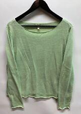 Eileen Fisher Womens Green 100% Linen Pullover Long Sleeve Sweater Sz US Large