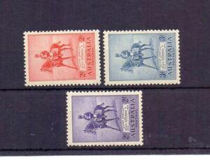 AUSTRALIA 1935 SILVER JUBILEE SET ( 3 ) LMM CAT £42
