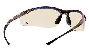 Bolle Contour CONTESP Safety Glasses Clear + Microfibre bag blue filter lens