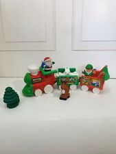 Fisher Price Little People MUSICAL CHRISTMAS TRAIN + SANTA CLAUS, ELF, REINDEER