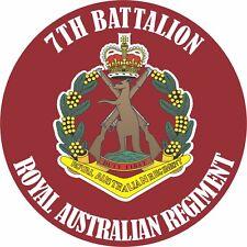 7TH BATTALION ROYAL AUSTRALIAN REGIMENT LAMINATED VINYL STICKER 100MM DIA