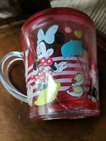 Used Disney Store Minnie Mouse with Figaro Funfill Cup 6oz Pink color