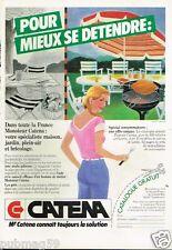 Publicité advertising 1983 Les magasins Jardin Catena