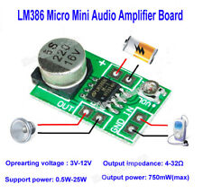 DC 3V~12V LM386 Mini Audio Power Amplifier Board AMP Module 750mW