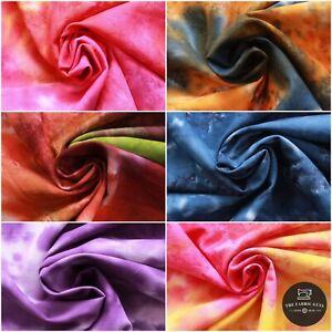 Batik Fabric, Hand Printed Marble Effect,100% Premium Cotton, 6 Col, 110cm Wide