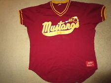 Mustangs #22 Minor League Baseball Rawlings Game Worn Used Jersey 48