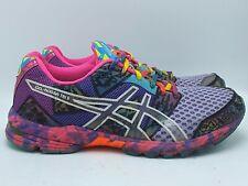 Asics Gel Noosa Tri 8 T356N Womens Size 9.5 Black Rainbow Running Shoe Sneaker