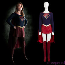 Women's Adult Supergirl Costume Cloak Skirt Movie Halloween Carnival Asia L-3XL