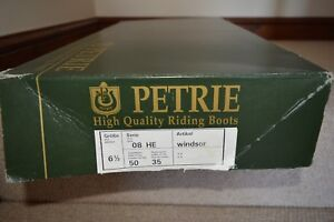 Petrie Full Leather Dressage/hunting/ Riding Boot. The Windsor Size 6.5
