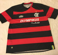 Mens XL Extra Large Striped Olympikus #9 Football Soccer Jersey
