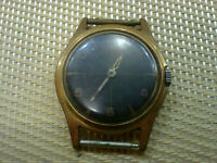 gold plated Vintage Old Swiss made Men's Wrist Watch