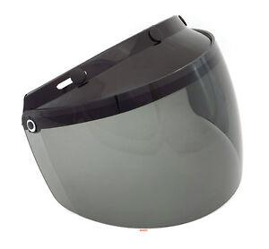 GMAX - Universal 3 Snap Flip Up Motorcycle Helmet Shield - Smoke - G999016