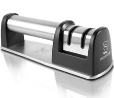 New listing PriorityChef Knife Sharpener for Straight and Serrated Knives, 2-Stage Diamond