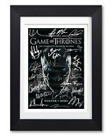 GAME OF THRONES CAST SIGNED POSTER SERIES SEASON PRINT PHOTO AUTOGRAPH GIFT