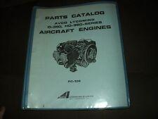 PARTS CATALOG AVCO LYCOMING O-360 HO-360 SERIES AIRCRAFT ENGINES PC-106