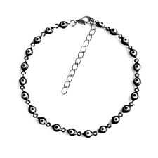 Black Evil Eye Chain Charm Anklet Enamel Protection