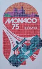 """SUPERBA Gary Hogben ORIGINALE """"MONACO 75"""" F1 FORMULA 1 Monte Carlo CORSA PITTURA"""