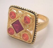Garnet Yellow Gold Filled Fashion Rings