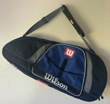 NEW Wilson 2 Compartment Tennis Racquet Dual Duffle Bag Padded Shoulder Strap