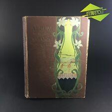 SUPERB 1908 ANTIQUE ART NOUVEAU POSTCARD ALBUM PHOTO CARD EMBOSSED VICTORIAN